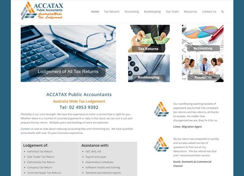 Website Design - ACCA Tax