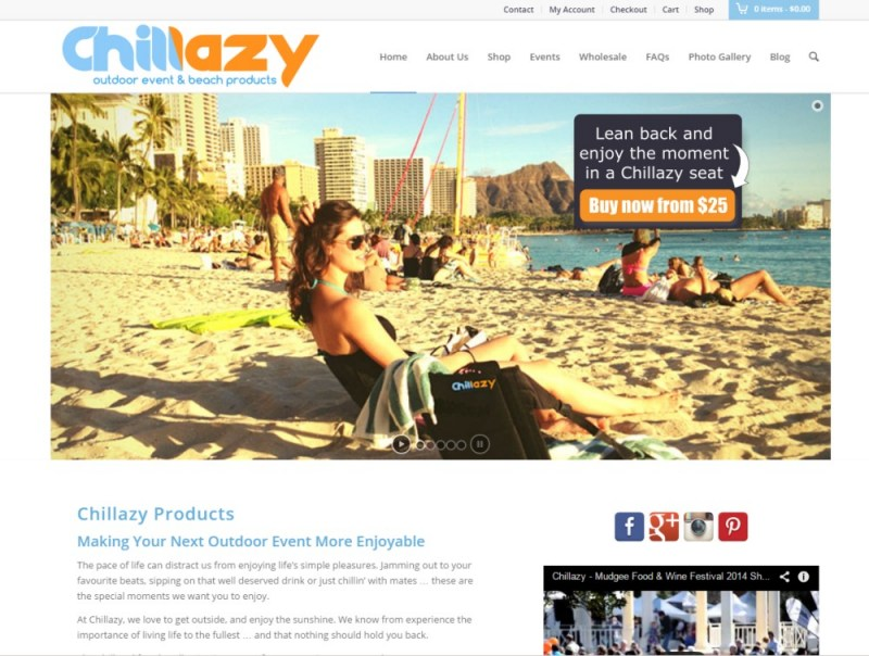 Website Design - Chillazy Products