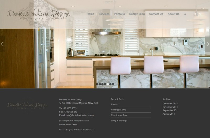 Website Design - Danielle Victoria Design