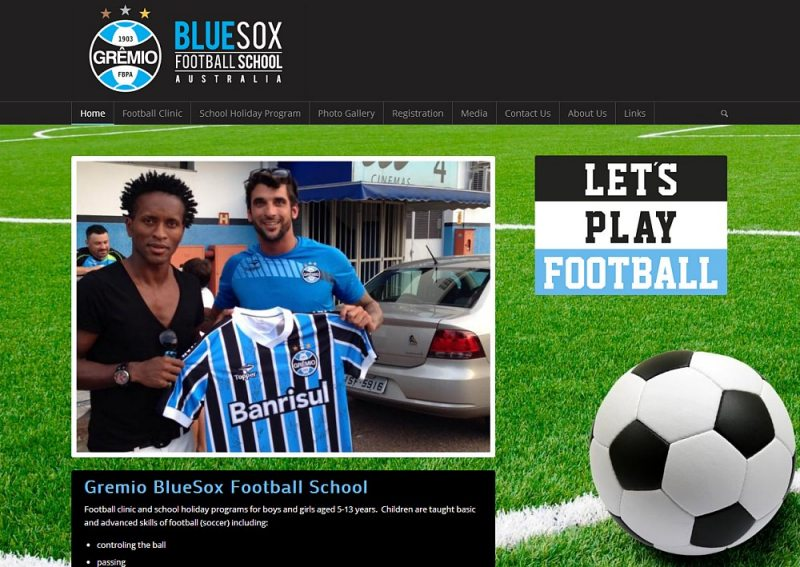 Website Design - Gremio BlueSox