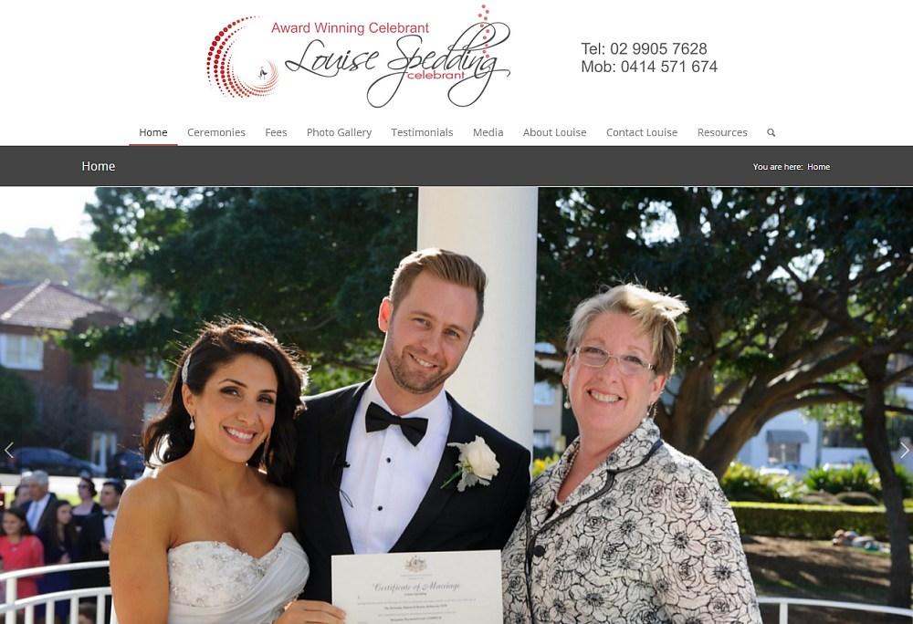 Website Design - Louise Spedding Celebrant