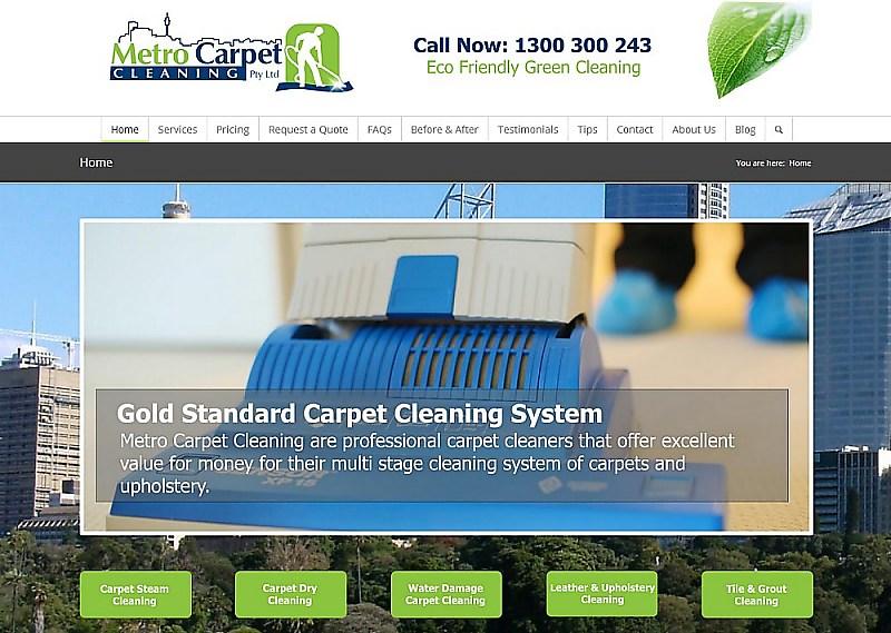 Website Design - Metro Carpet Cleaning