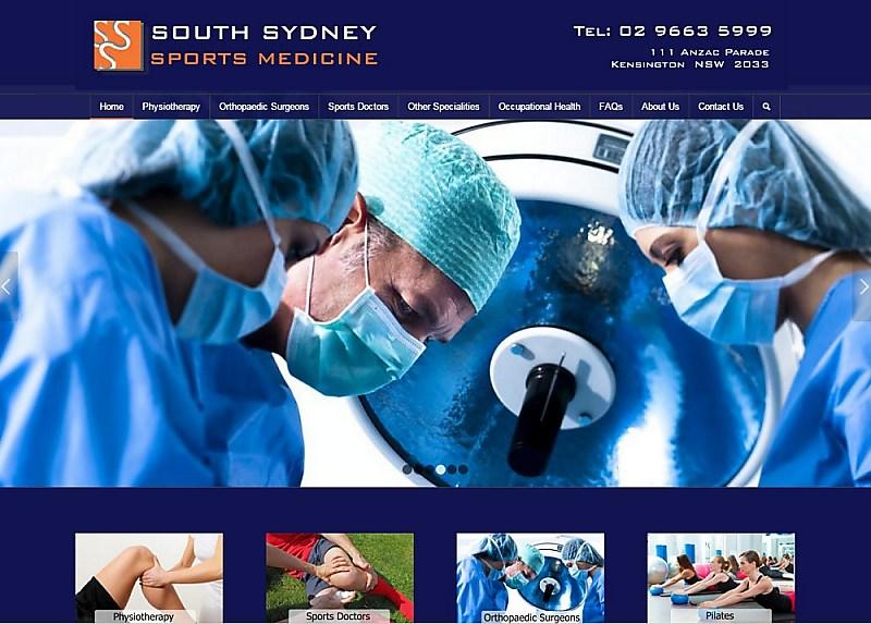 Website Design - South Sydney Sports Medicine