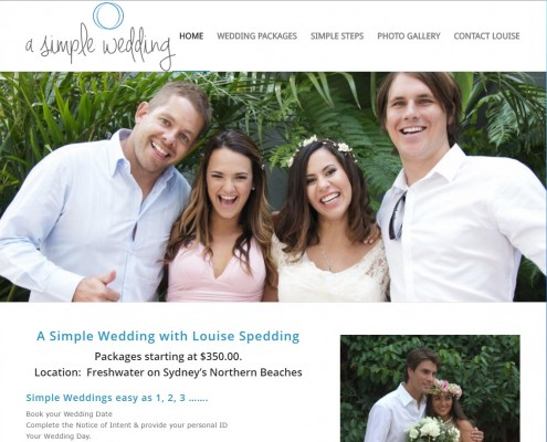 Website Design - A Simple Wedding