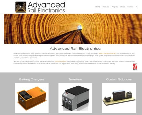 Website Design - Advanced Rail Electronics