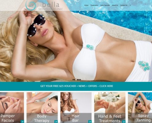 Website Design - Bella Skincare Clinic