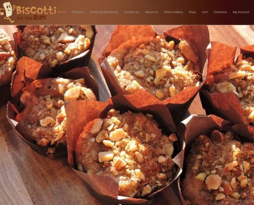 Website Design - Biscotti On The Run