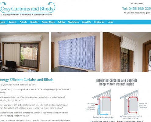 Website Design - Cosy Curtains