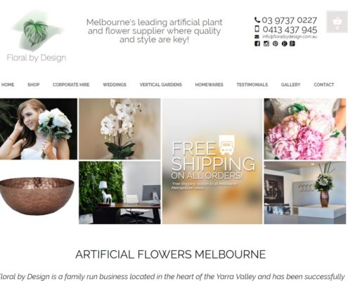 Website design - Floral by Design