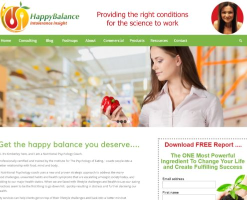 Website Design - Happy Balance