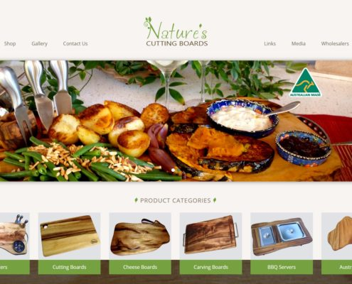 Website Design - Nature's Cutting Boards