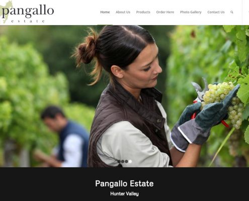 Website Design - Pangallo Estate