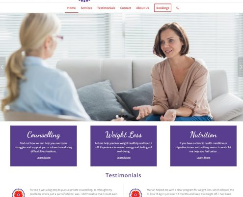 Website Design - Sunflower Counselling