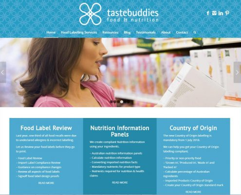 Website Design - Tastebuddies