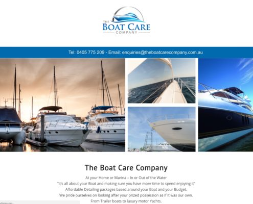 Website Design - The Boat Care Company