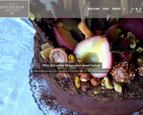 Website Design - The Epicurean Architect