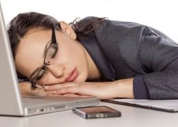 BusinessWomanSleeping