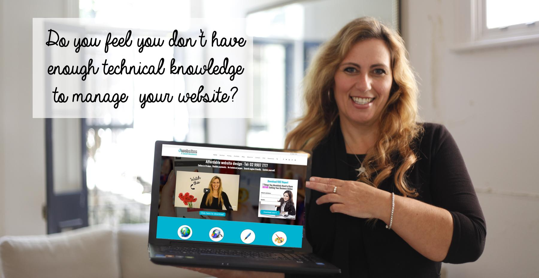 Ivana Katz - Do you feel you don't have enough technical knowledge to manage your website?
