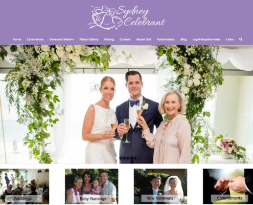 Website Design - Sydney Celebrant