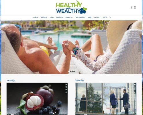 Website Design - Healthy and Wealthy