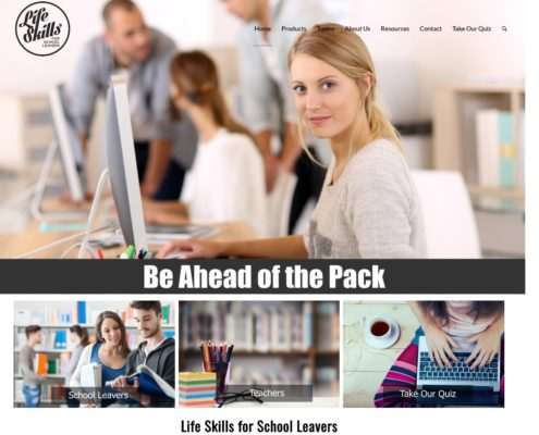 Website Design - Life Skills for School Leavers