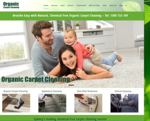Website Design - Organic Carpet Cleaning