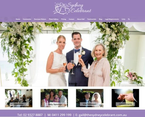 Website Design - The Sydney Celebrant