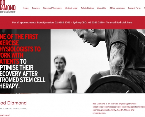Website Design - Rod Diamond