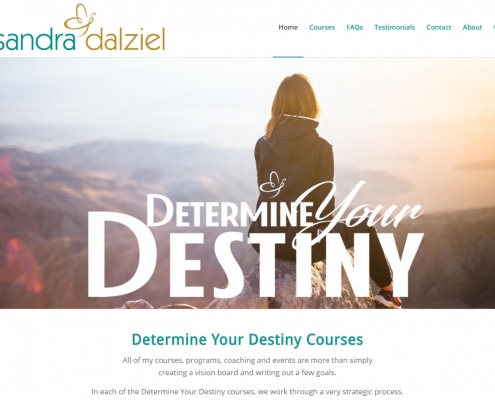 Website Design - Sandra Dalziel Courses