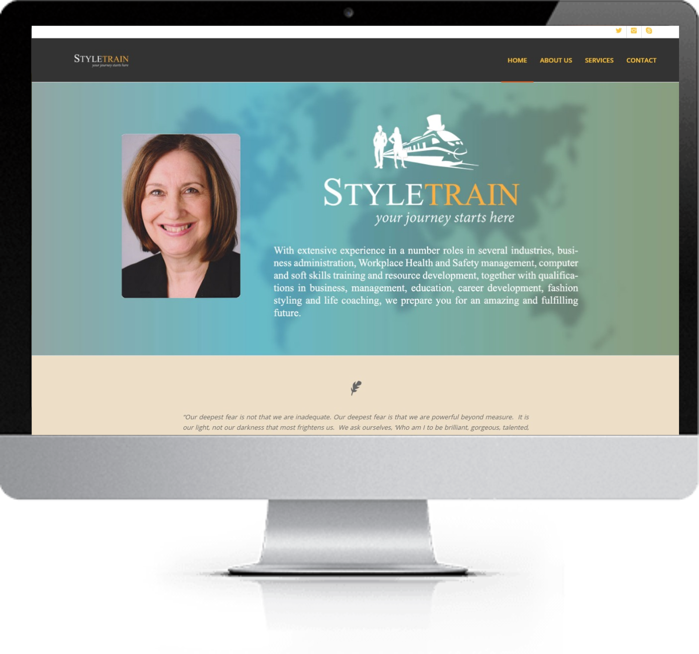 Website Redesign - Anne Murphy - Before