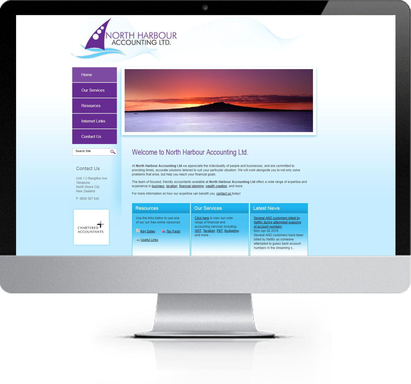 Website Redesign - NH Accounting- Before