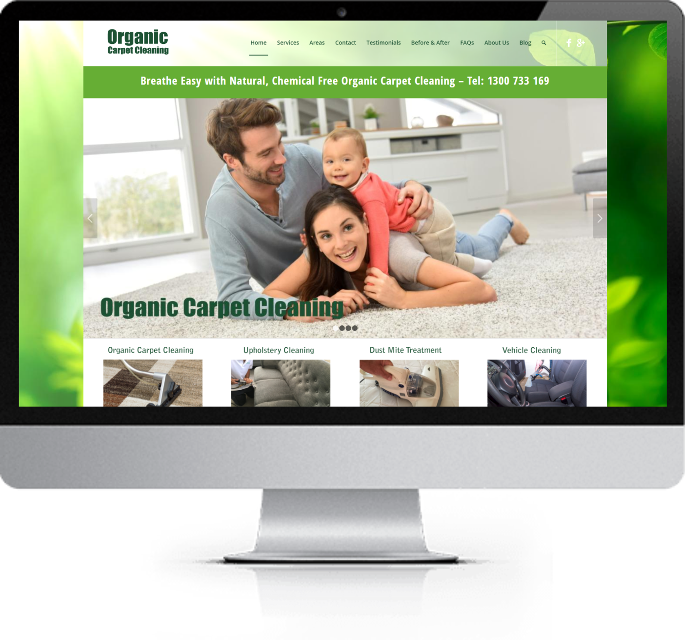 Website Redesign - Organic Carpet Cleaning - After