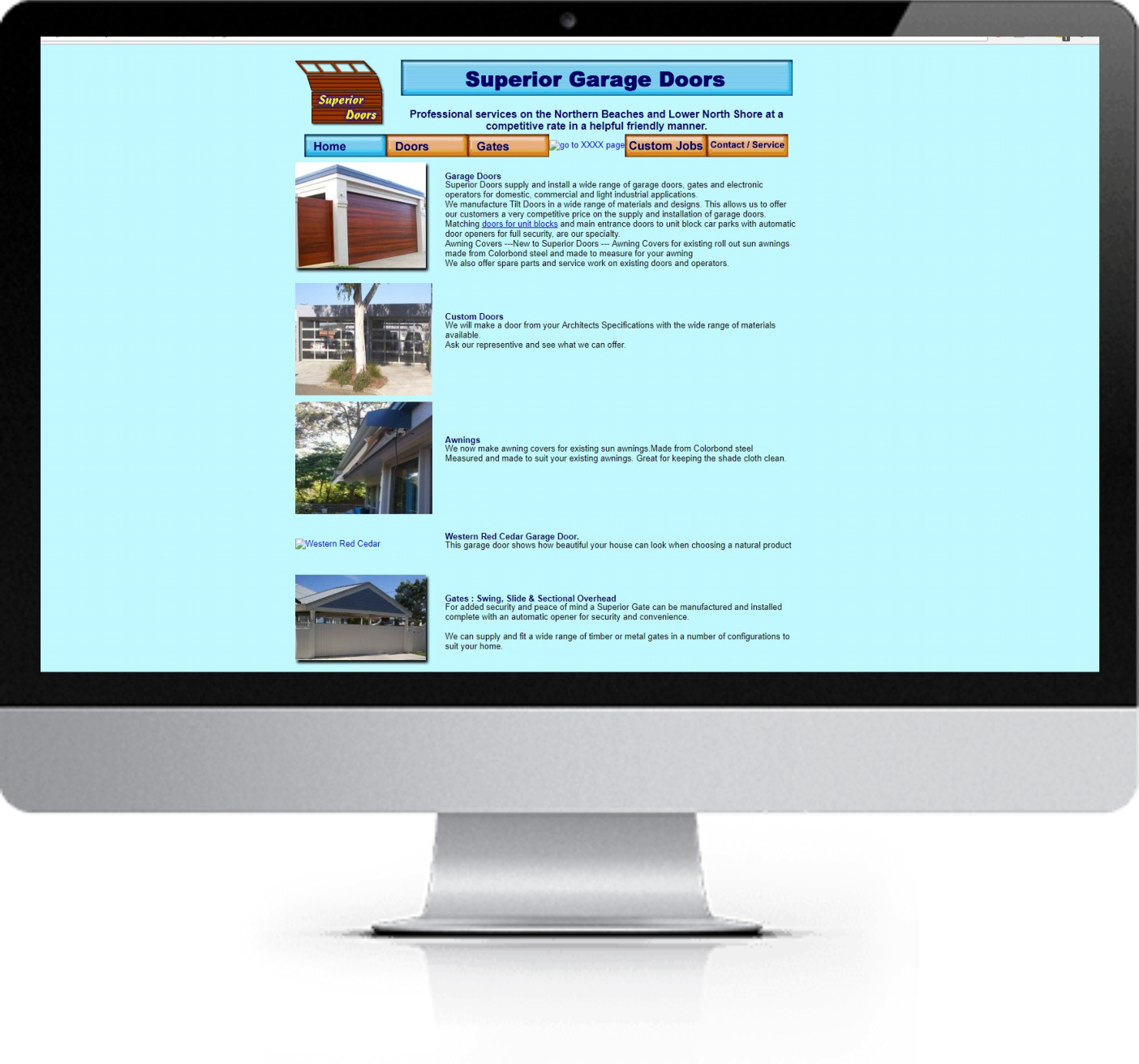 Website Redesign - Superior Doors - Before