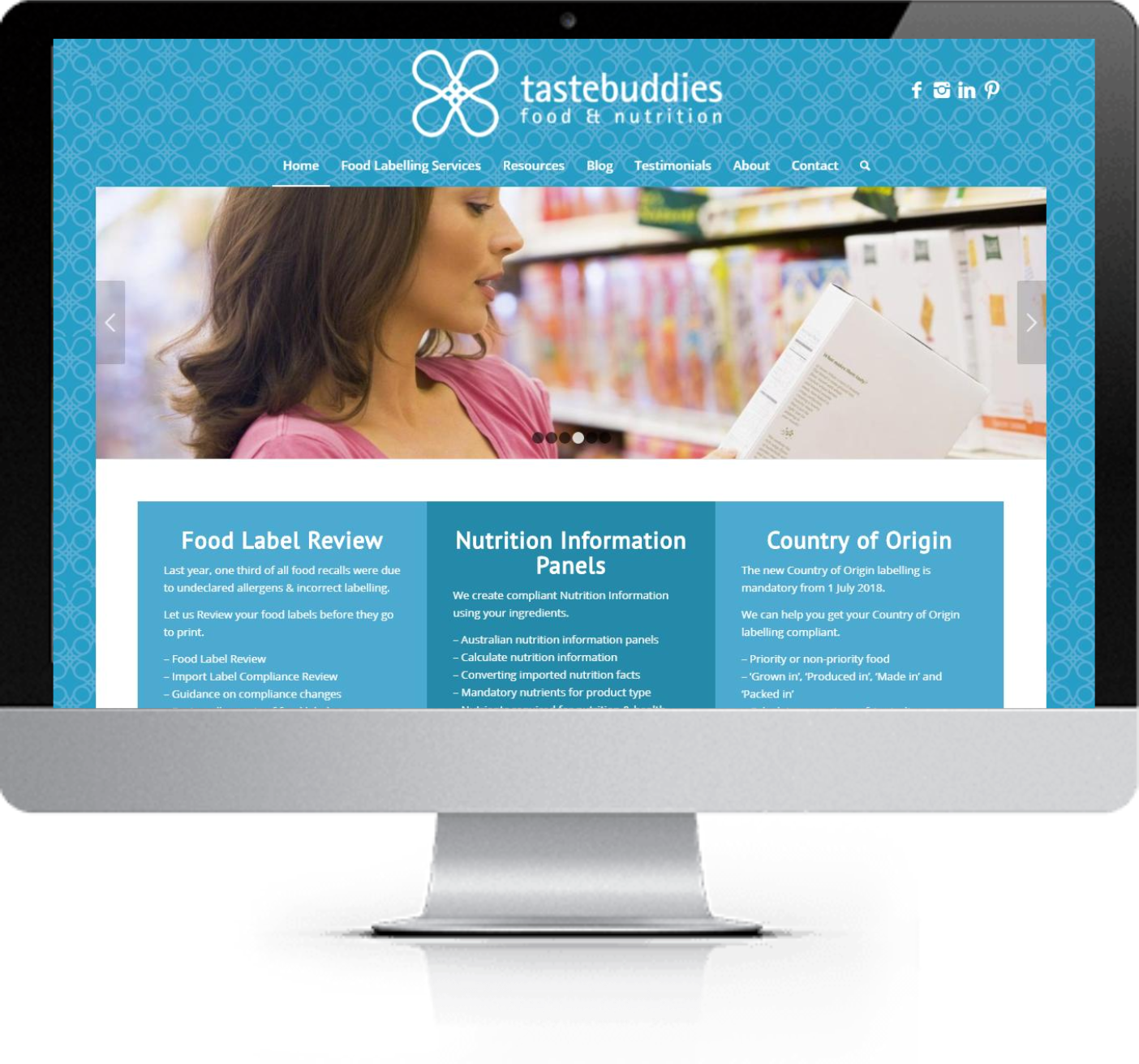 Website Redesign - Tastebuddies - After