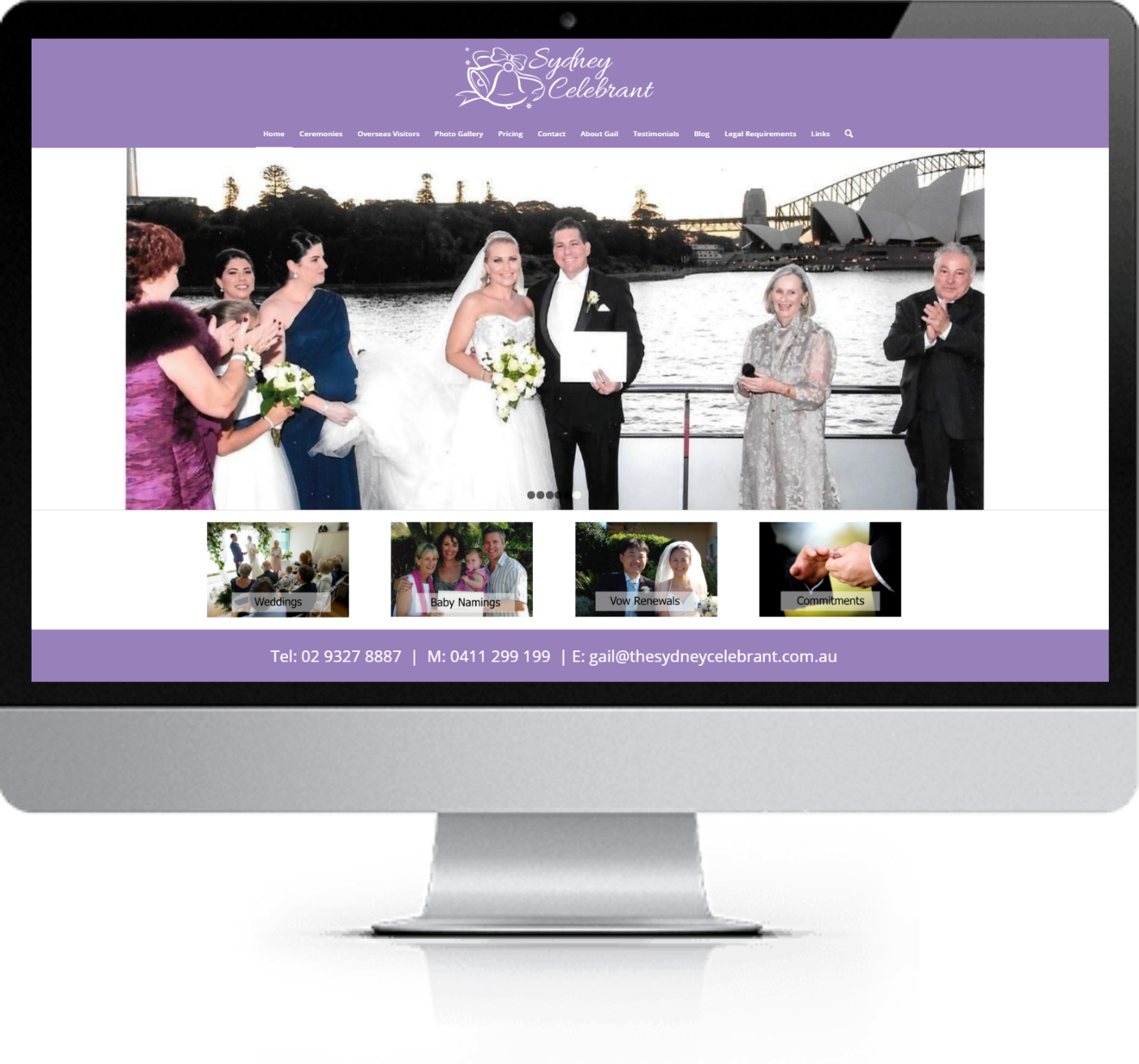 Website Redesign - The Sydney Celebrant - After