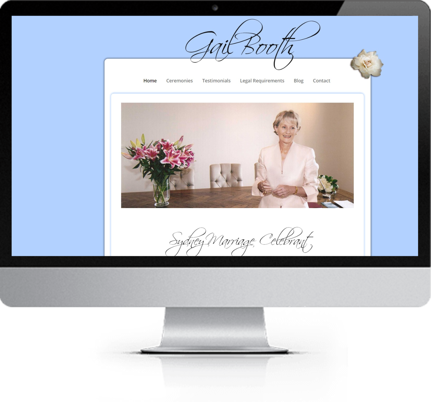 Website Redesign - The Sydney Celebrant - Before