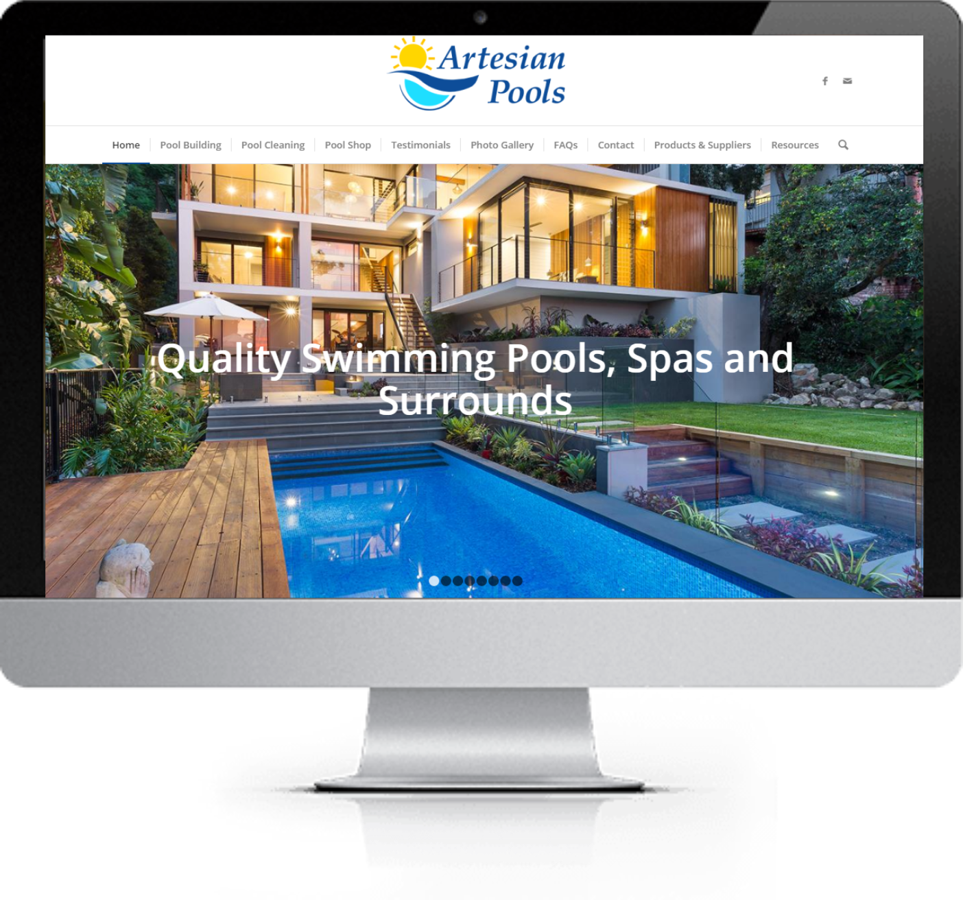 Website Design - Artesian Pools